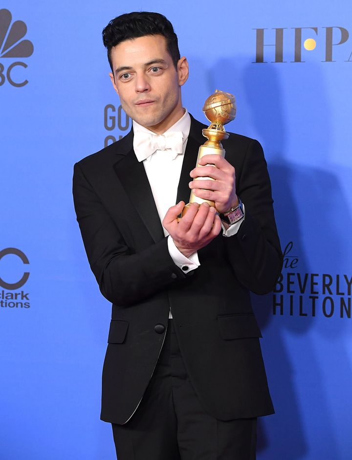 "Malek won the Golden Globe for best performance by an actor in a drama film for ""Bohemian Rhapsody"" in January."