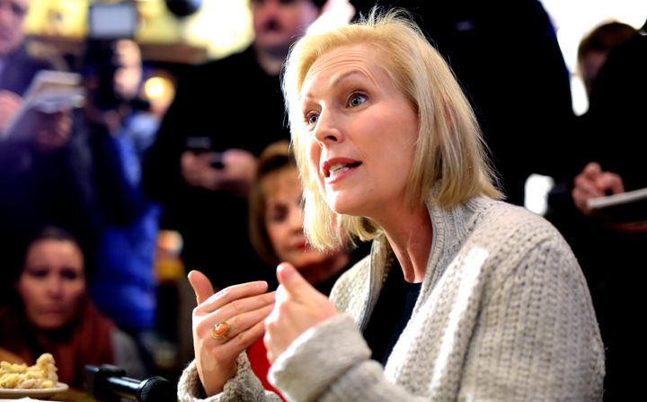 Sen. Kirsten Gillibrand (D-N.Y.) angered of her party's some big donors, such as Susie Tompkins Buell and George Soros, when