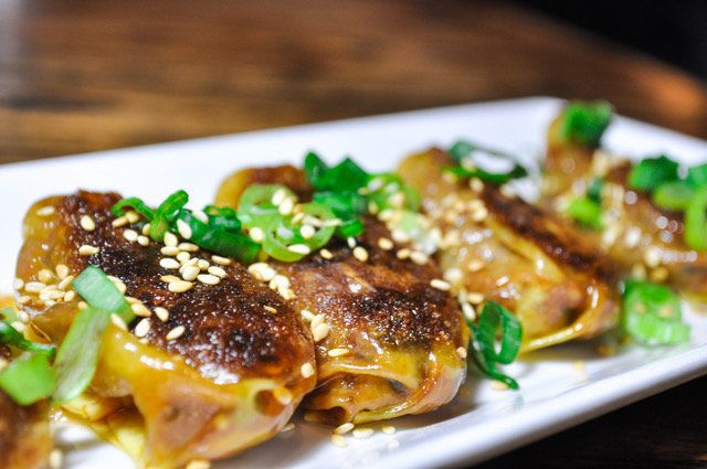 Chef Ming Tsai's pork, ginger and scallion dumplings.