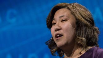 Rep. Grace Meng (D-NY), participated in a panel discussion, at the 2018 American Israel Public Affairs Committee (AIPAC) Policy Conference, at the Walter E. Washington Convention Center in Washington, D.C., on Monday, March 5, 2018.  (Photo by Cheriss May/NurPhoto via Getty Images)