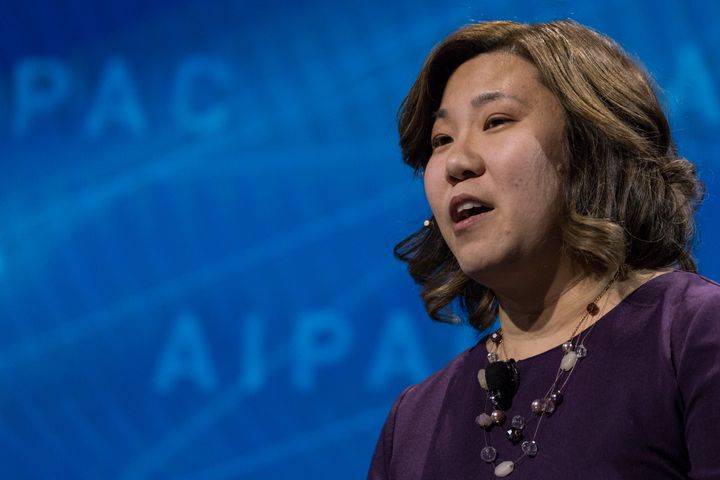 Rep. Grace Meng (D-N.Y.) will bring Jin Park as her guest to Trump's speech Tuesday.
