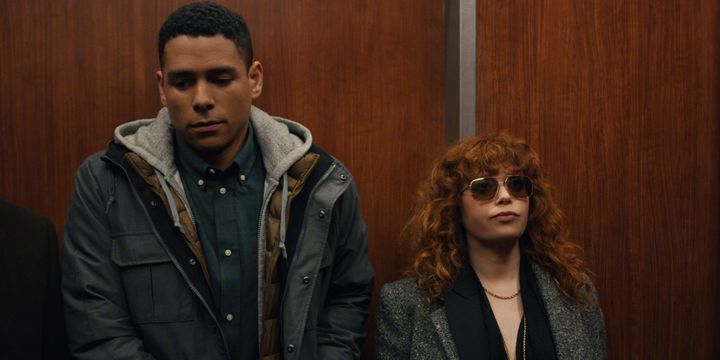 "Nadia (Natasha Lyonne) and Alan (Charlie Barnett) being very chill about almost dying in ""Russian Doll."""