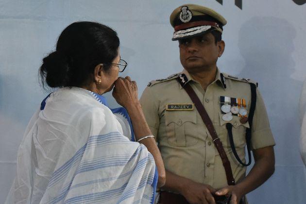Rajeev Kumar, Kolkata Police Commissioner with West Bengal Chief Minister Mamata