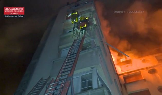 The fire happened in an apartment building in Paris