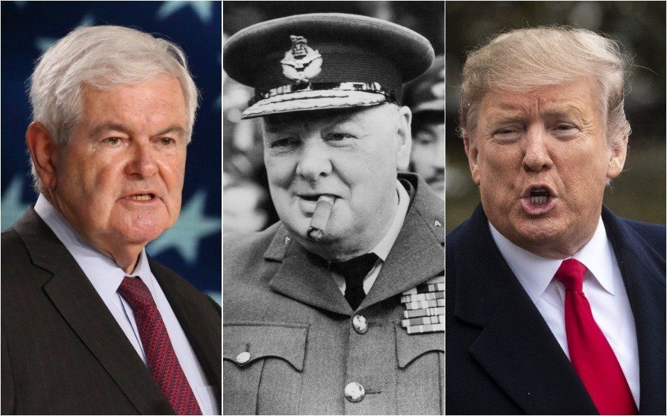 Newt Gingrich, Churchill, Trump