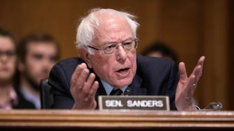 WASHINGTON, DC - JANUARY 16:  Senate Environment and Public Works Committee member Sen. Bernie Sanders (I-VT) questions Andrew Wheeler during his confirmation hearing to be the next administrator of the Environmental Protection Agency before the  in the Dirksen Senate Office Building on Capitol Hill January 16, 2019 in Washington, DC. A former coal lobbyist, Wheeler has been acting administrator of the EPA since July, when Scott Pruitt stepped down amid multiple ethics investigations. (Photo by Chip Somodevilla/Getty Images)