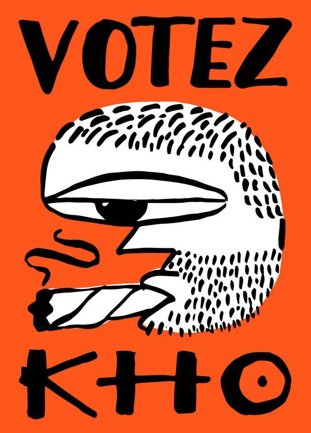 L'illustration KHO du graphiste visuel Walid