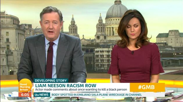 Piers spoke out about Liam Neeson on Good Morning