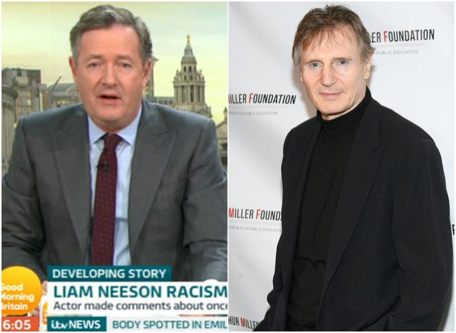 Piers Morgan Condemns Liam Neeson For 'Staggeringly Racist' Interview