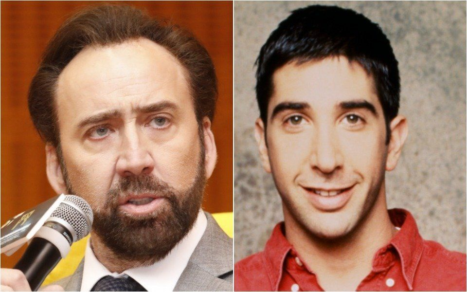 "Nicolas Cage and Ross from ""Friends"""