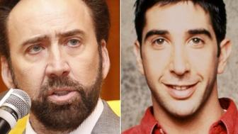 """Nicolas Cage and Ross from """"Friends"""""""