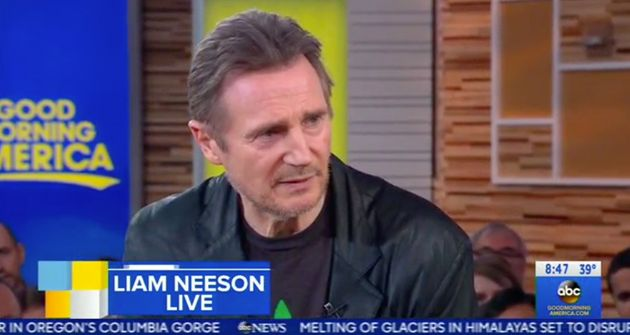 Liam Neeson appearing on Good Morning