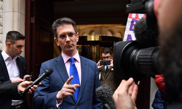 Brexiteer Steve Baker outside Cabinet Office during talks on 'backstop'