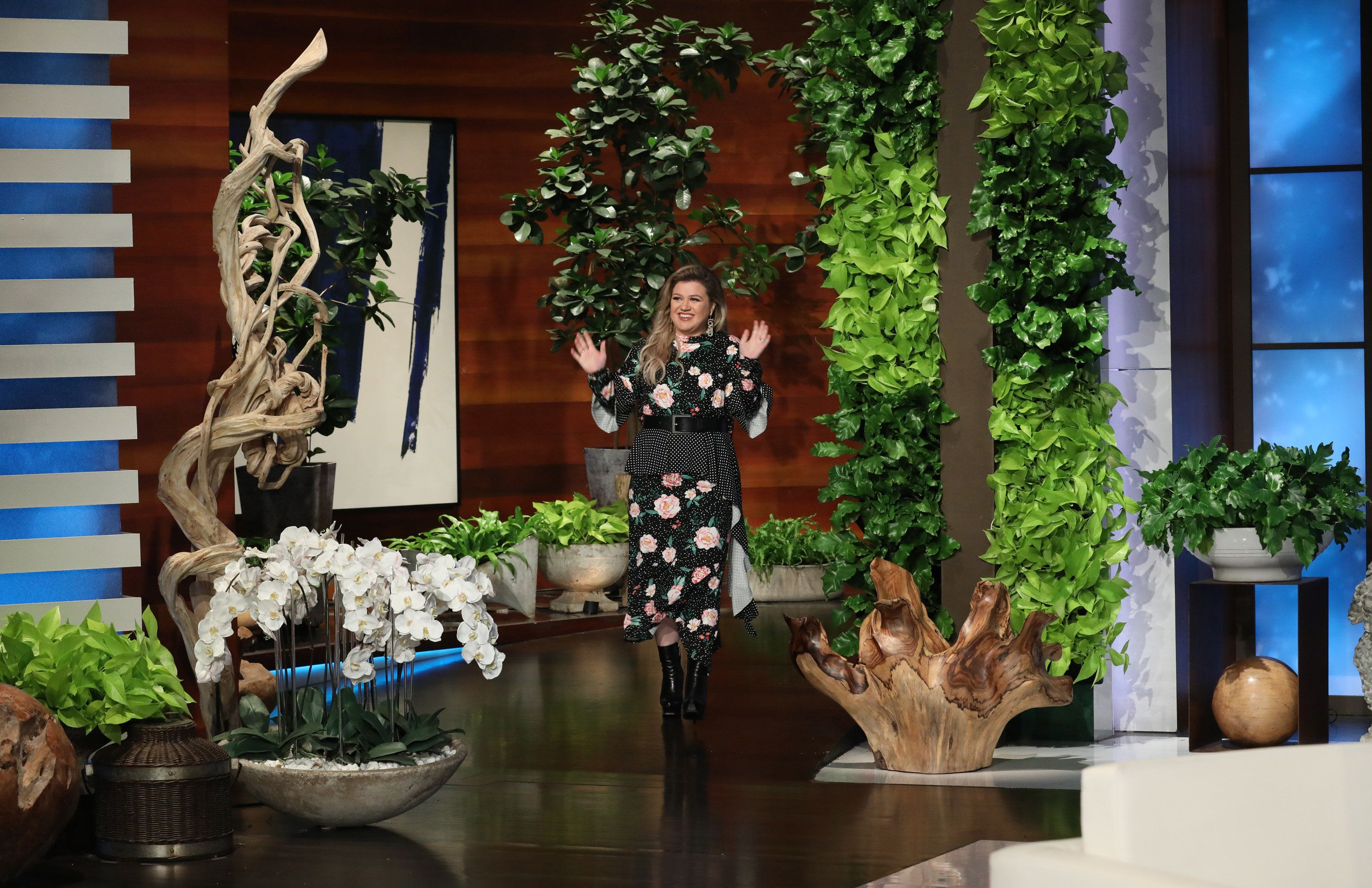 "In this photo released by Warner Bros., behind the scenes photos are taken during a shoot for ""The Ellen DeGeneres Show"" in Los Angeles. (Photo by Michael Rozman/Warner Bros.)"