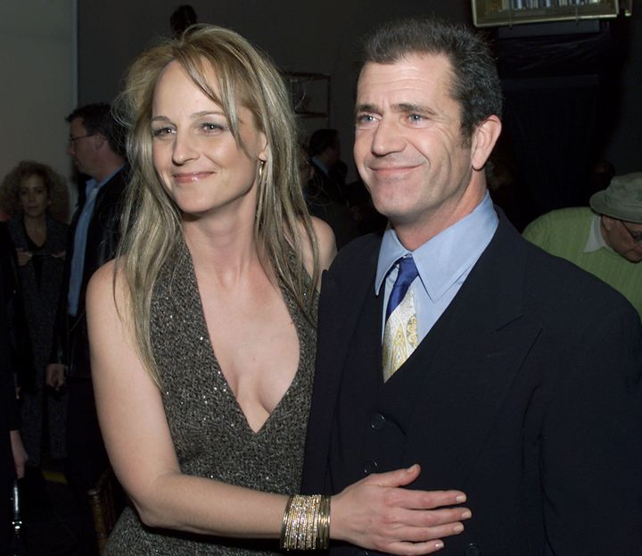 "Helen Hunt and Mel Gibson at the ""What Women Want"" premiere."