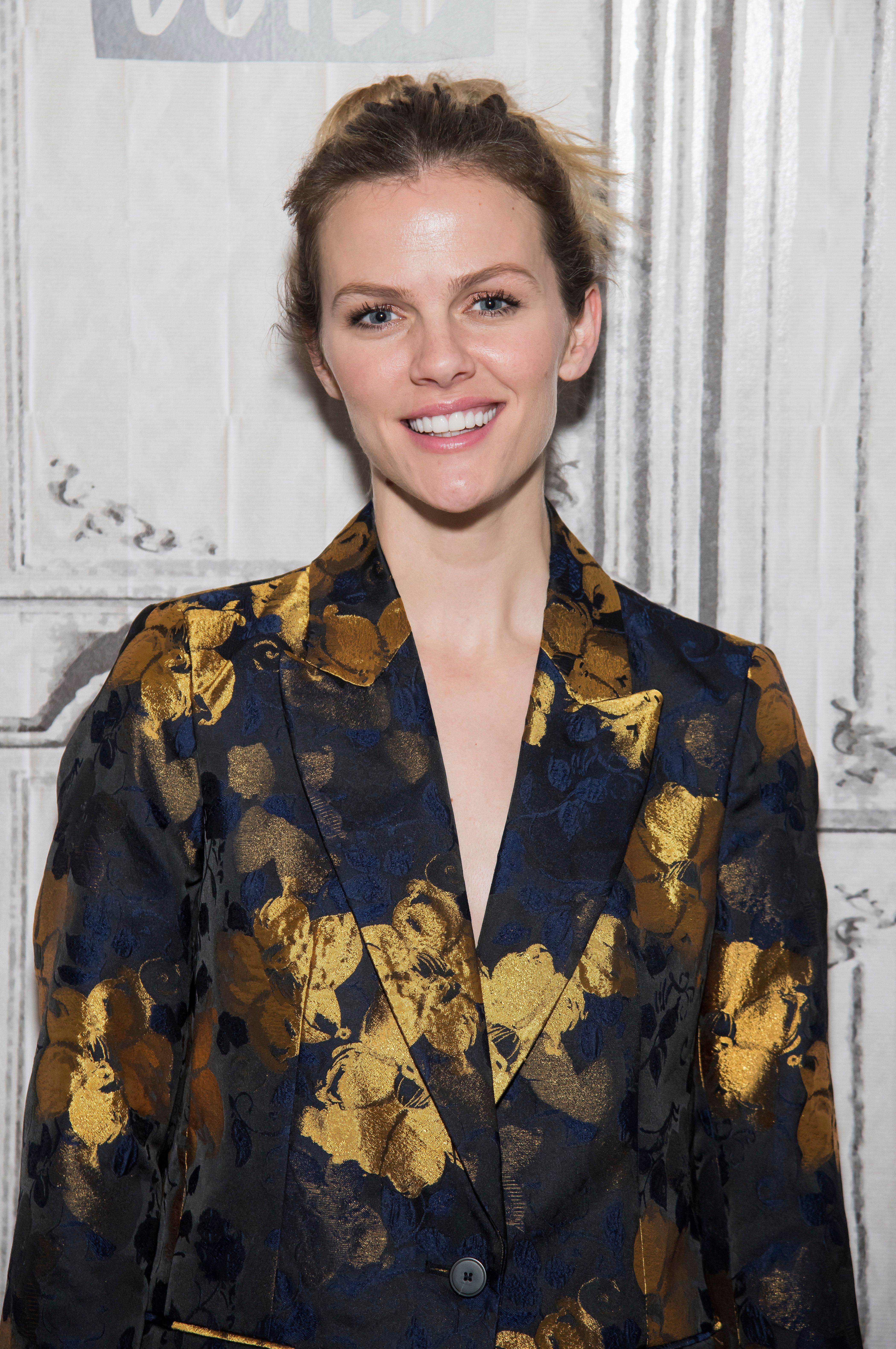 Brooklyn Decker participates in the BUILD Speaker Series to discuss the #BlogHer18 Creators Summit at AOL Studios on Monday, Aug. 6, 2018, in New York. (Photo by Charles Sykes/Invision/AP)
