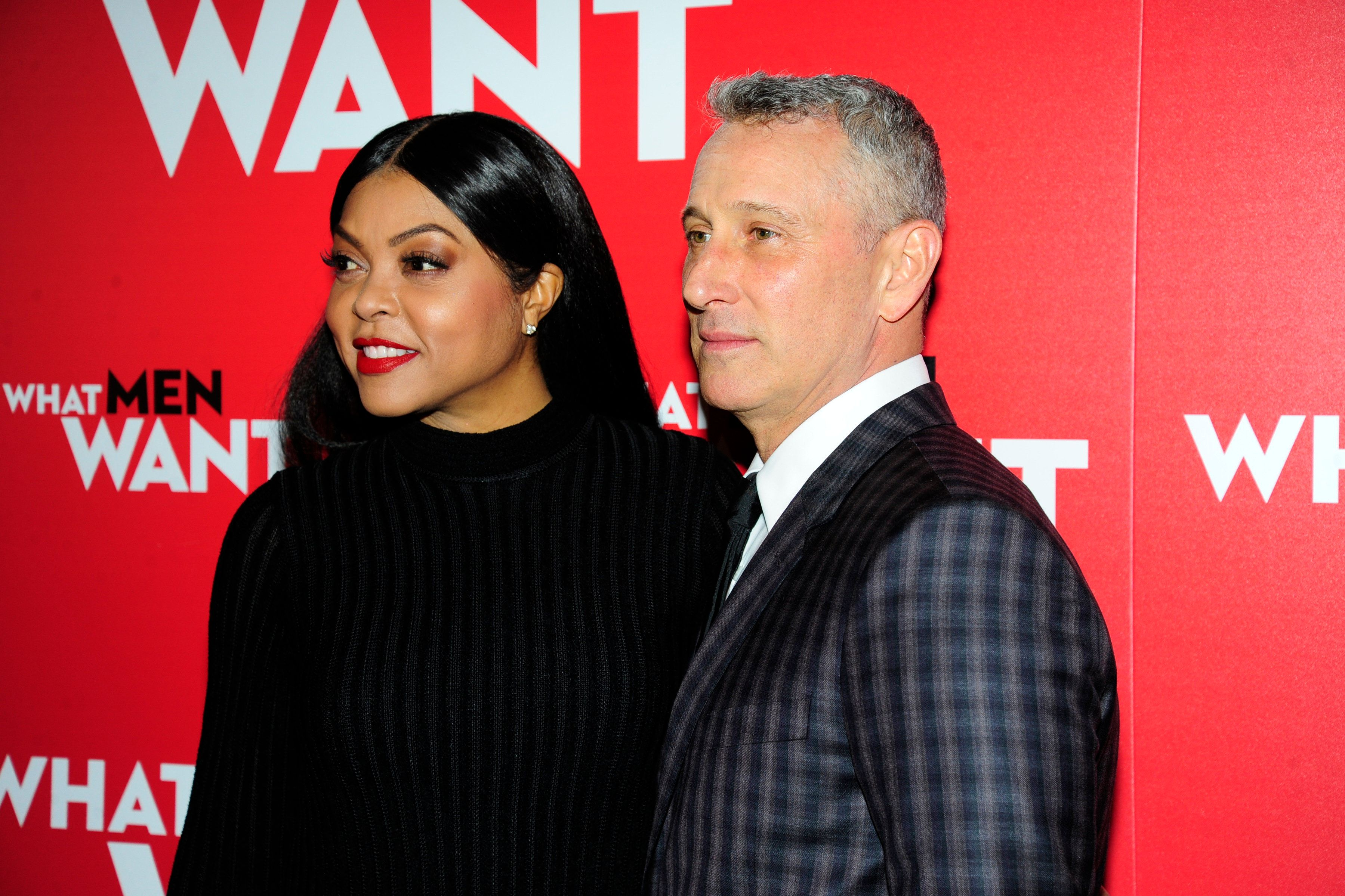 "Taraji P. Henson and Adam Shankman at the New York premiere of ""What Men Want."""