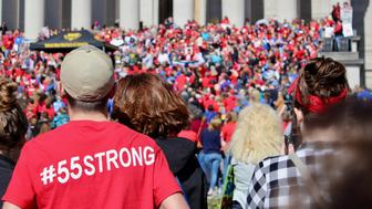 West Virginia teachers went on strike in February 2018 and converged on the state capitol in Charleston.