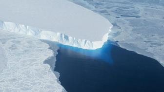 The Thwaites Glacier in Antarctica is seen in this undated NASA image. Vast glaciers in West Antarctica seem to be locked in an irreversible thaw linked to global warming that may push up sea levels for centuries, scientists said on May 12, 2014. Six glaciers including the Thwaites Glacier, eaten away from below by a warming of sea waters around the frozen continent, were flowing fast into the Amundsen Sea, according to the report based partly on satellite radar measurements from 1992 to 2011. REUTERS/NASA/Handout via Reuters (ANTARCTICA - Tags: ENVIRONMENT SCIENCE TECHNOLOGY)  ATTENTION EDITORS - FOR EDITORIAL USE ONLY. NOT FOR SALE FOR MARKETING OR ADVERTISING CAMPAIGNS. THIS IMAGE HAS BEEN SUPPLIED BY A THIRD PARTY. IT IS DISTRIBUTED, EXACTLY AS RECEIVED BY REUTERS, AS A SERVICE TO CLIENTS