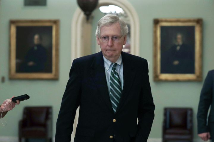 "Sen. Mitch McConnell (R-Ky.) decried a provision that could help fill a shortage of volunteer poll workers as a ""brand-n"