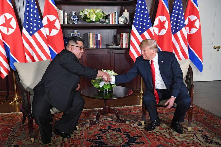 President Donald Trump first met with North Korean leader Kim Jong Un in June 2018.