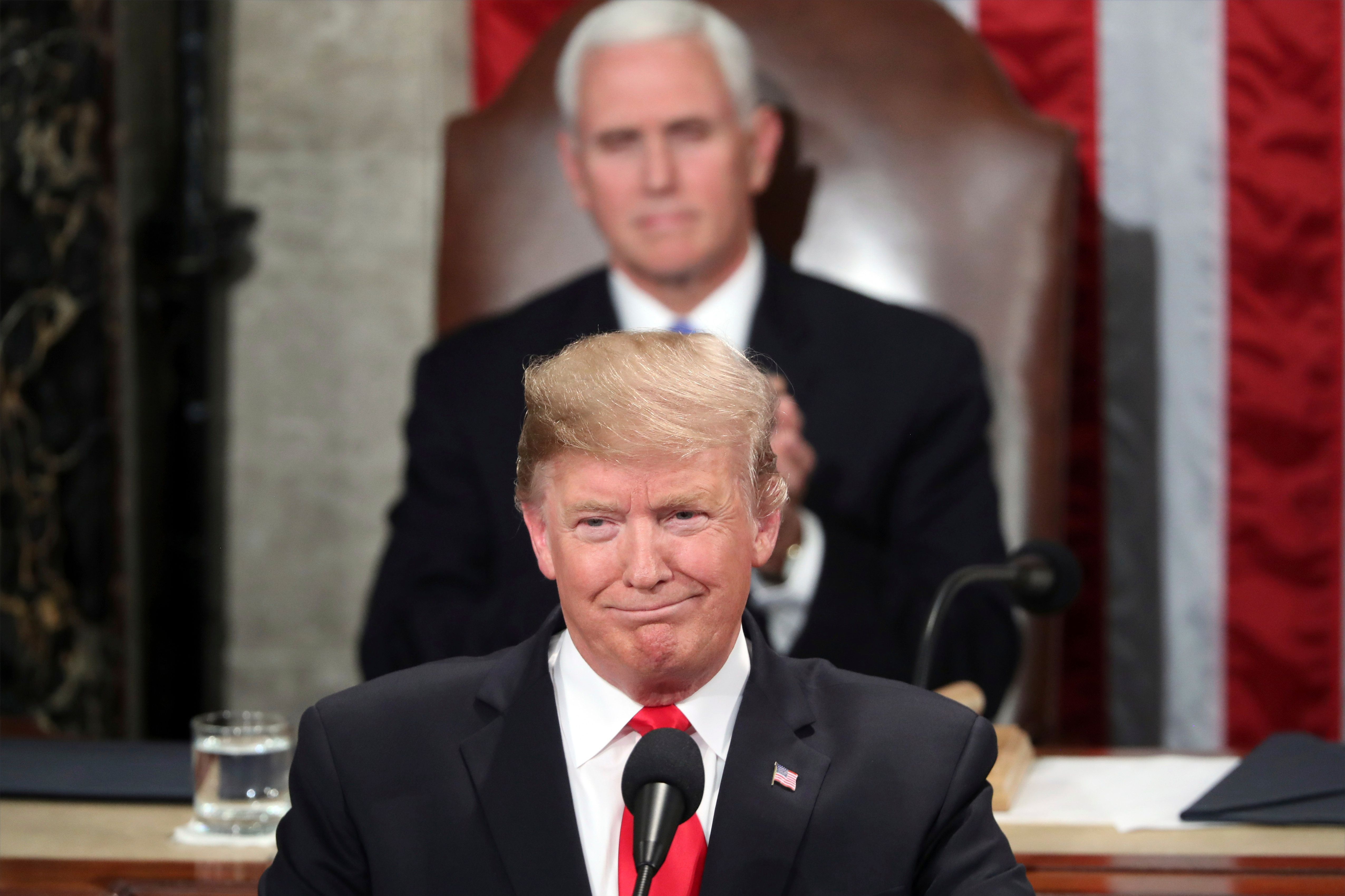 President Donald Trump delivers the State of the Union address on Tuesday.