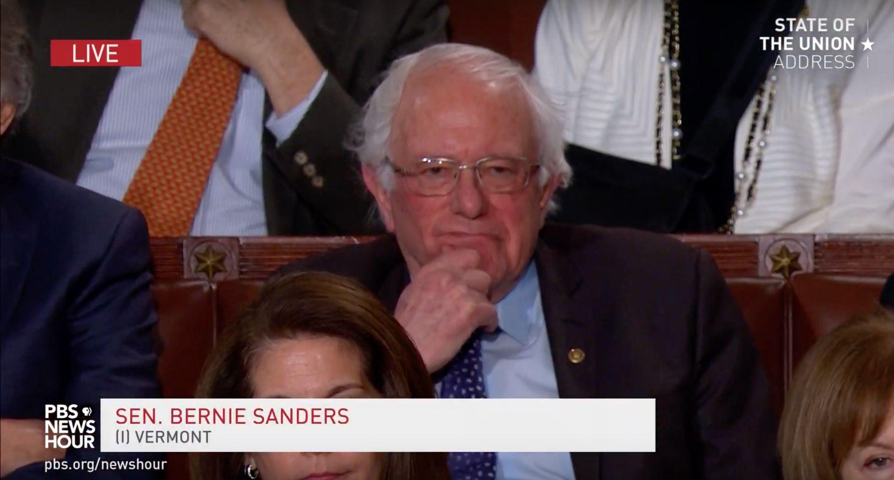Trump Knocks Socialism And Bernie Sanders Does Not Look