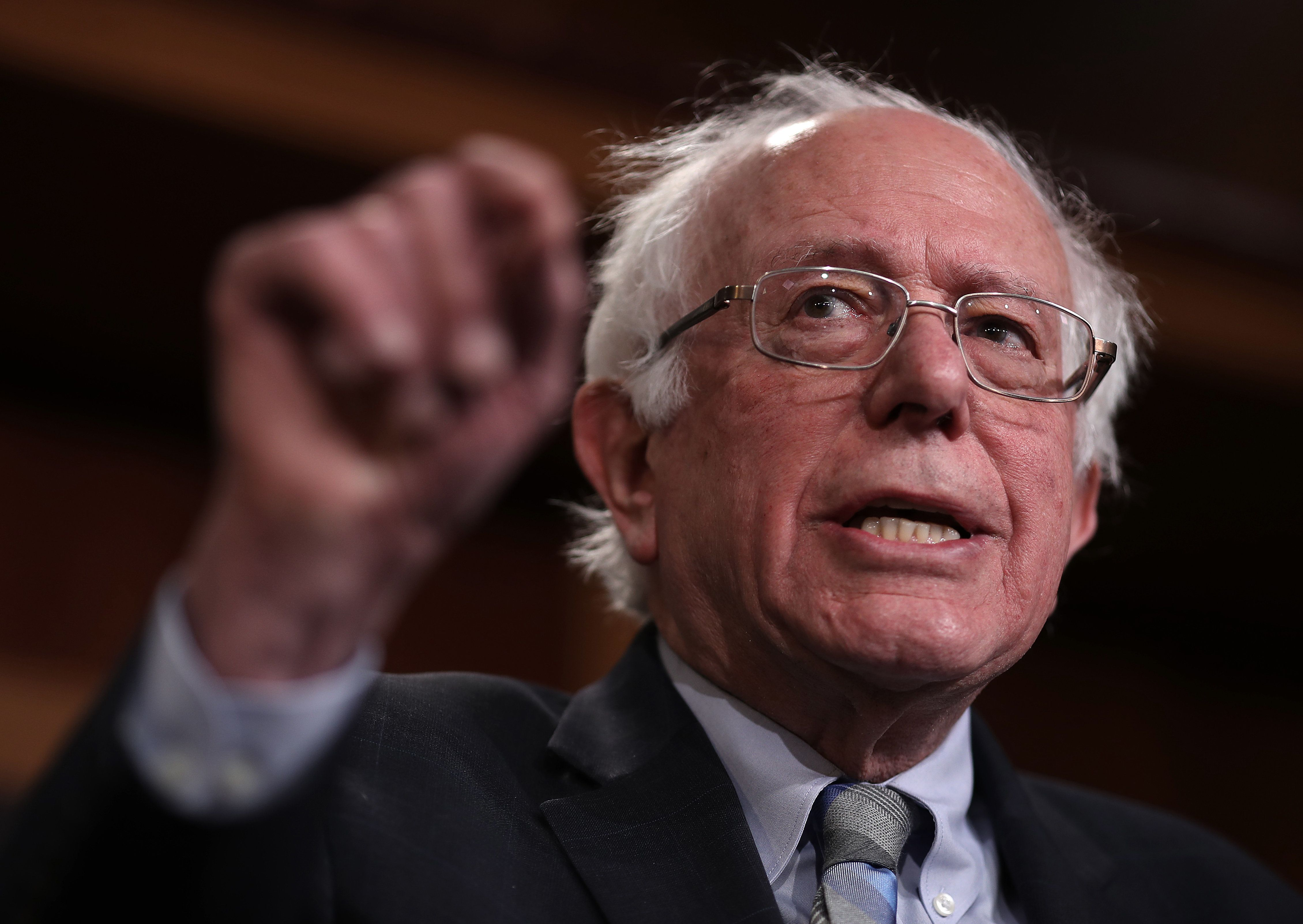 Bernie Sanders Uses Rebuttal To Fact-Check Trump's State Of The Union