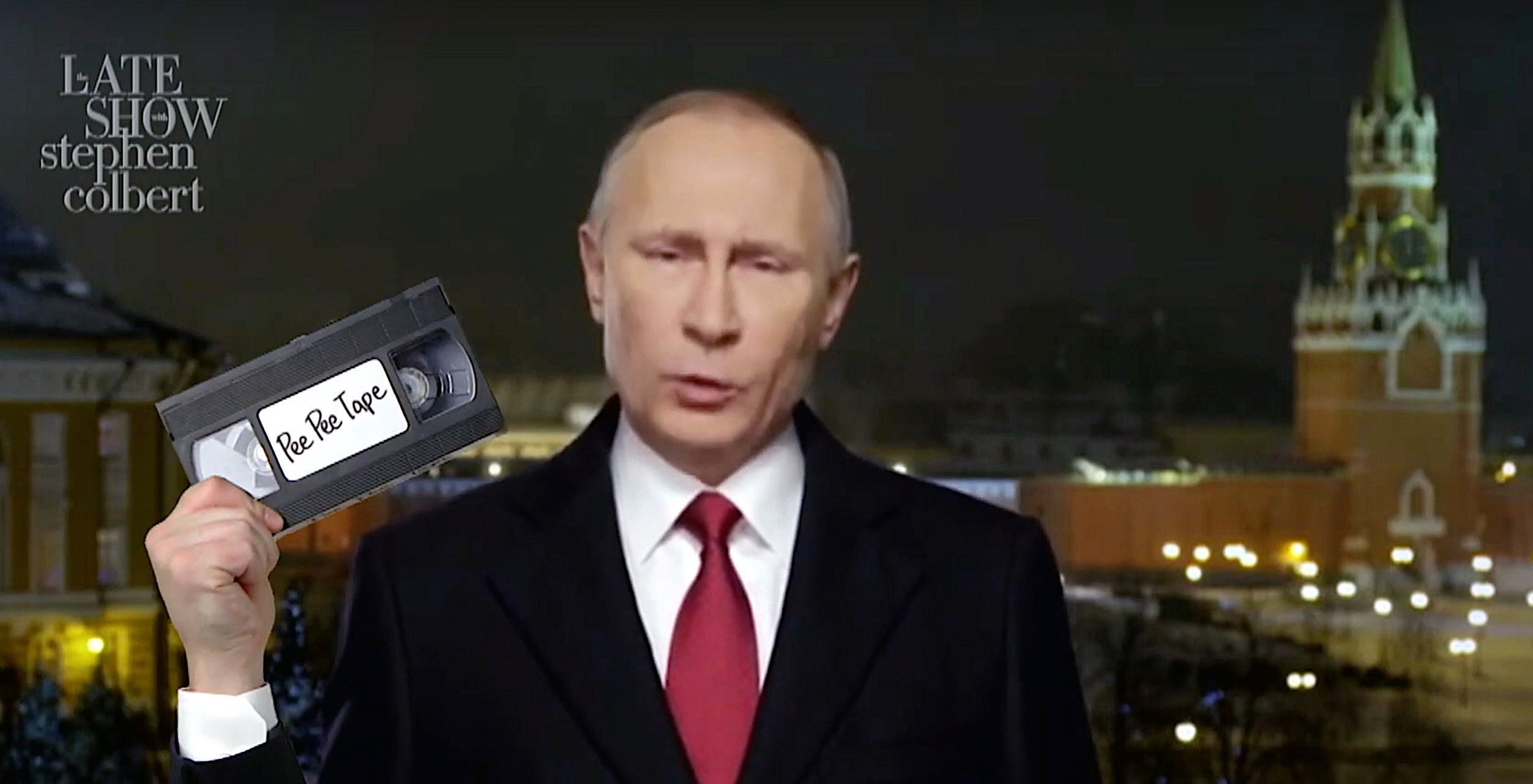 "Faux Vladimir Putin on ""The Late Show"" with Stephen Colbert"