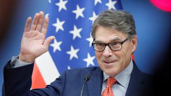 U.S. Energy Secretary Rick Perry attends a joint news conference with Hungarian Foreign Minister Peter Szijjarto in Budapest, Hungary, November 13, 2018. REUTERS/Bernadett Szabo