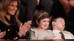 Tρέλα στο Twitter με τον μικρό καλεσμένο του Τραμπ που κοιμήθηκε στην ομιλία