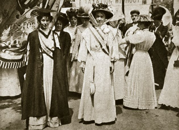 Emmeline Pethick Lawrence (1867-1954) and Emmeline Pankhurst (1858-1928) were two leaders of the Women's...