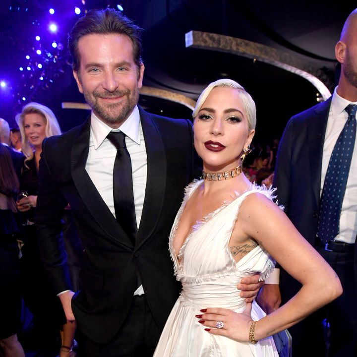 Bradley Cooper and Lady Gaga strike a pose at the SAG Awards.
