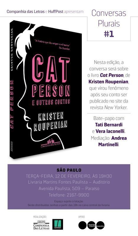 Conversas Plurais: Companhia das Letras e HuffPost debatem 'Cat Person e outros
