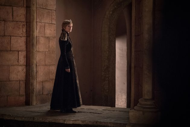 The possibly pregnant Cersei looking very