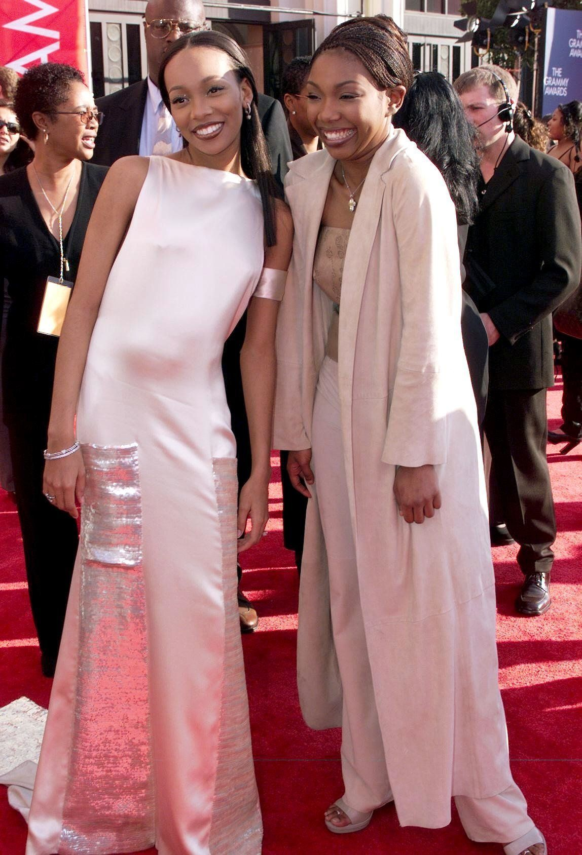 Monica and Brandy at the 41st annual Grammys in