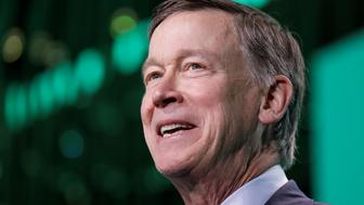 Former Gov. John Hickenlooper (D-CO) speaks at the United States Conference of Mayors winter meeting in Washington, U.S., January 24, 2019. REUTERS/Yuri Gripas