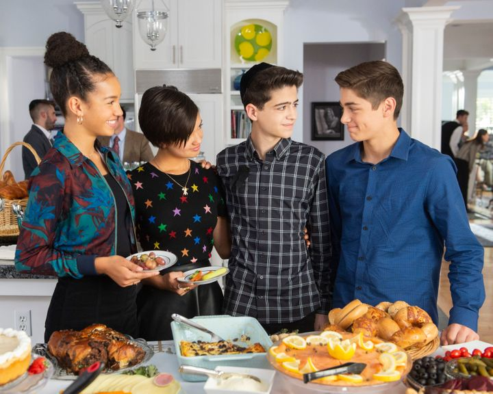 """Andi Mack"" stars Sofia Wylie, Peyton Elizabeth Lee, Joshua Rush and Asher Angel in Friday's episode, ""O"