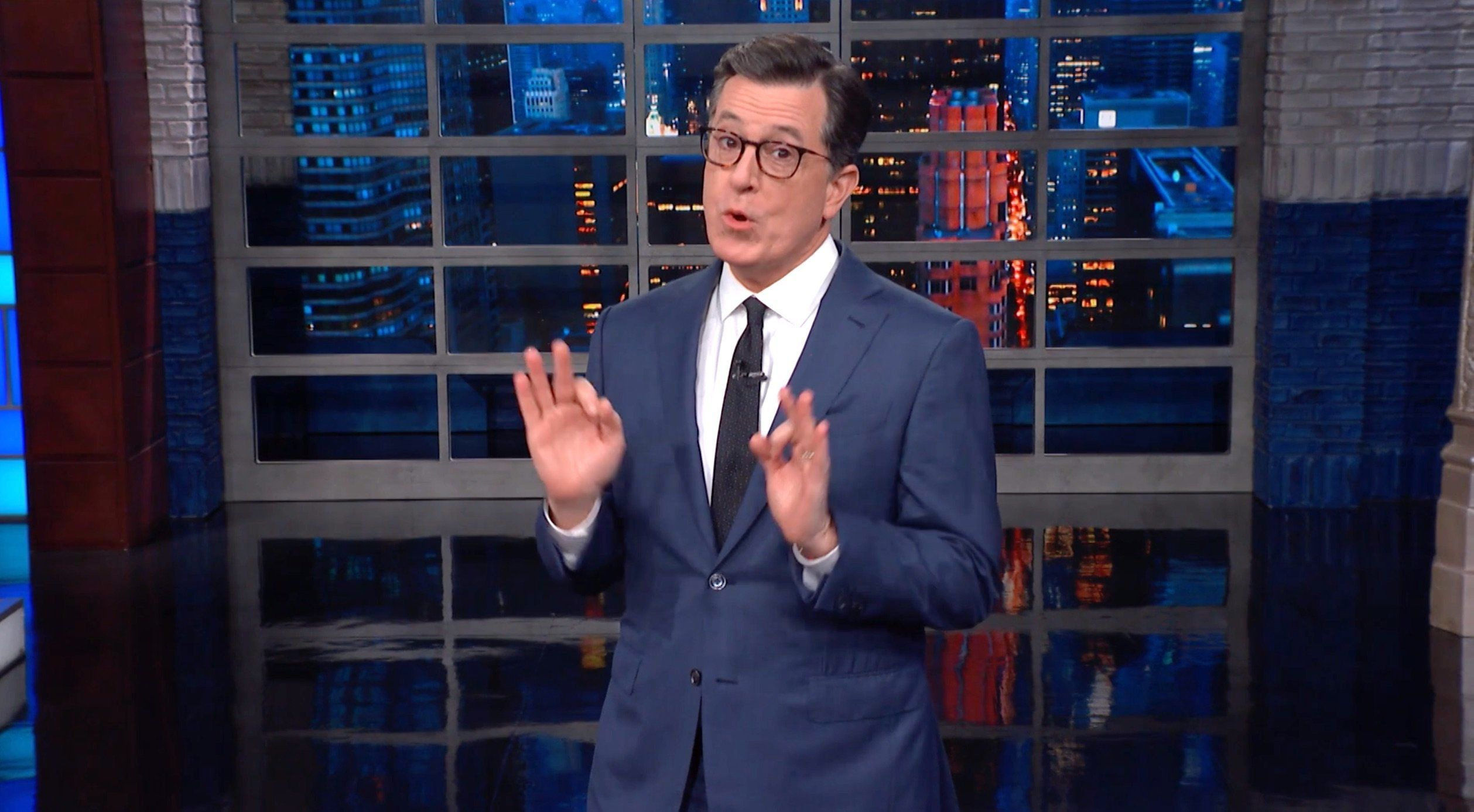 Colbert Answers Trump's Rhyme With A Perfectly Poetic Presidential Putdown