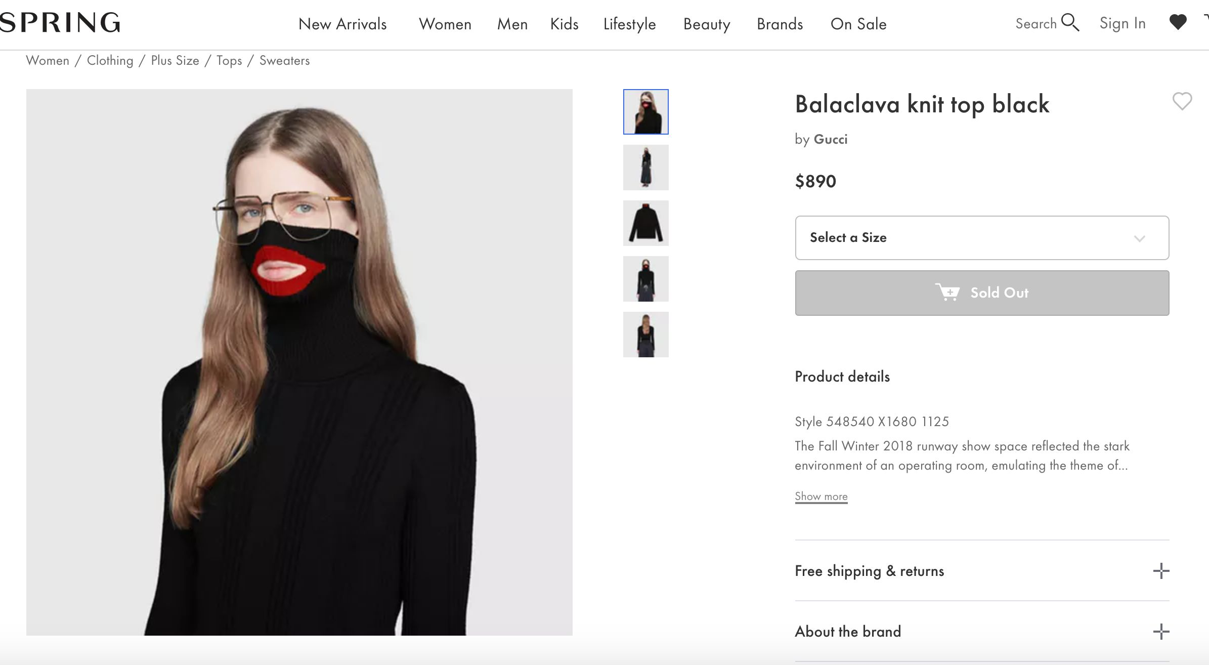 Gucci Apologizes For Black Balaclava Sweater That Resembles Blackface