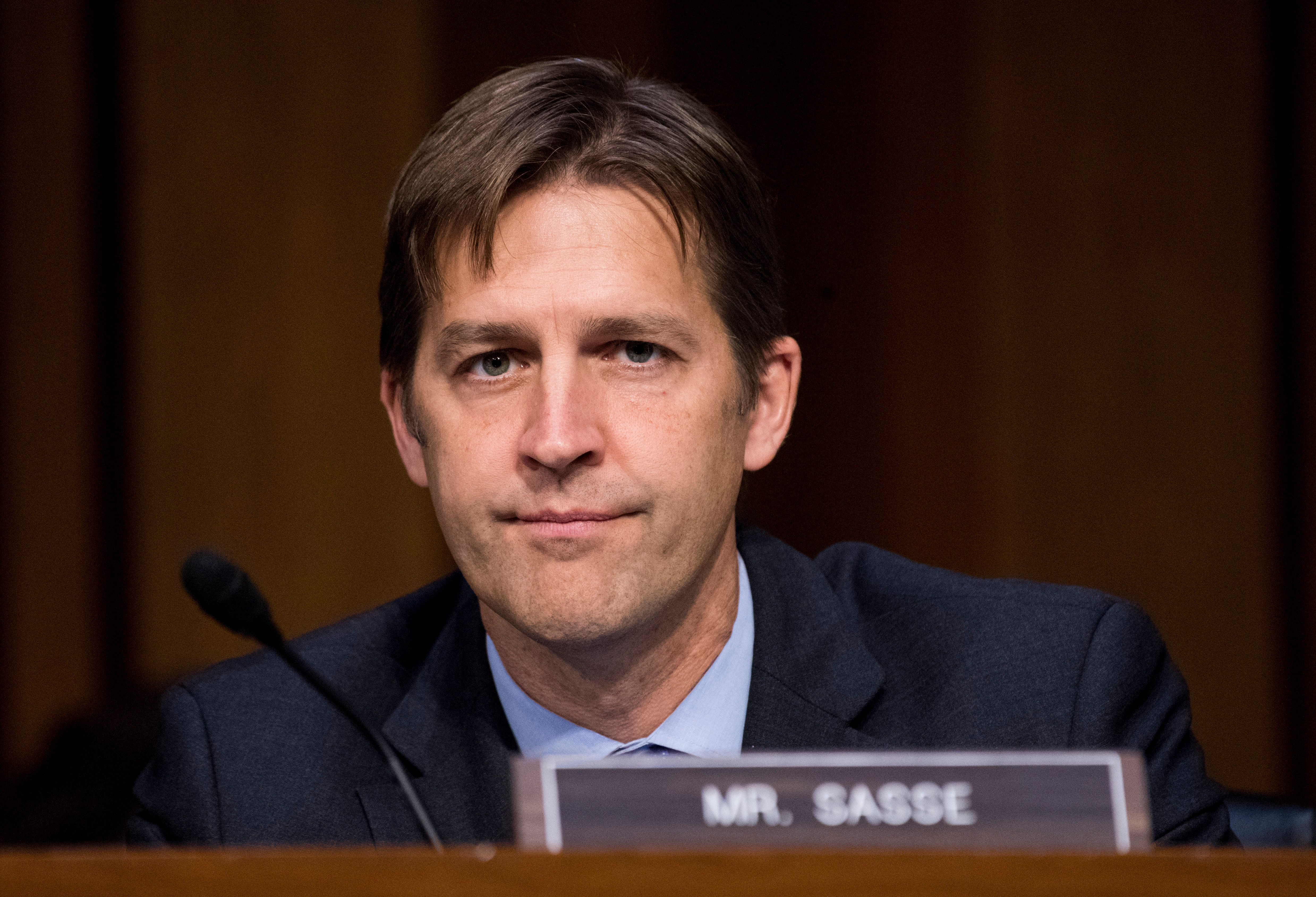 UNITED STATES - OCTOBER 18: Sen. Ben Sasse, R-Neb., listens as Attorney General Jeff Sessions testifies during the Senate Judiciary Committee hearing on Full committee hearing on 'Oversight of the U.S. Department of Justice' on Wednesday, Oct. 18, 2017. (Photo By Bill Clark/CQ Roll Call)