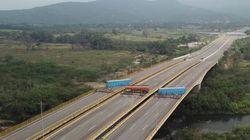 Au Venezuela, des camions bloquent la frontière pour empêcher l'aide humanitaire de