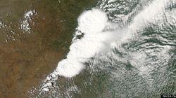 NASAの衛星がとらえた巨大竜巻