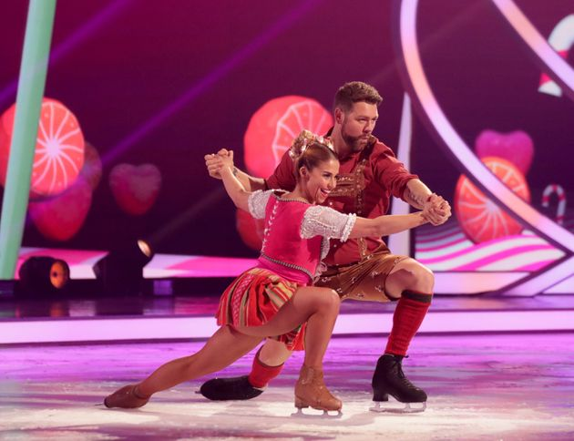 Brian with his partner Alex Murphy on last week's