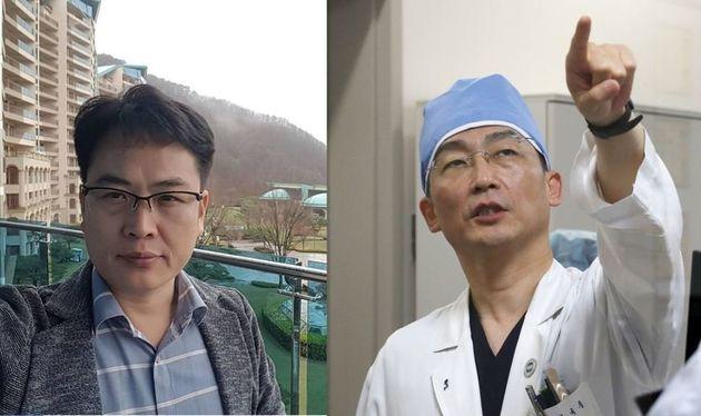 고 윤한덕 국립중앙의료원 중앙응급의료센터장(왼쪽)과 이국종 아주대병원