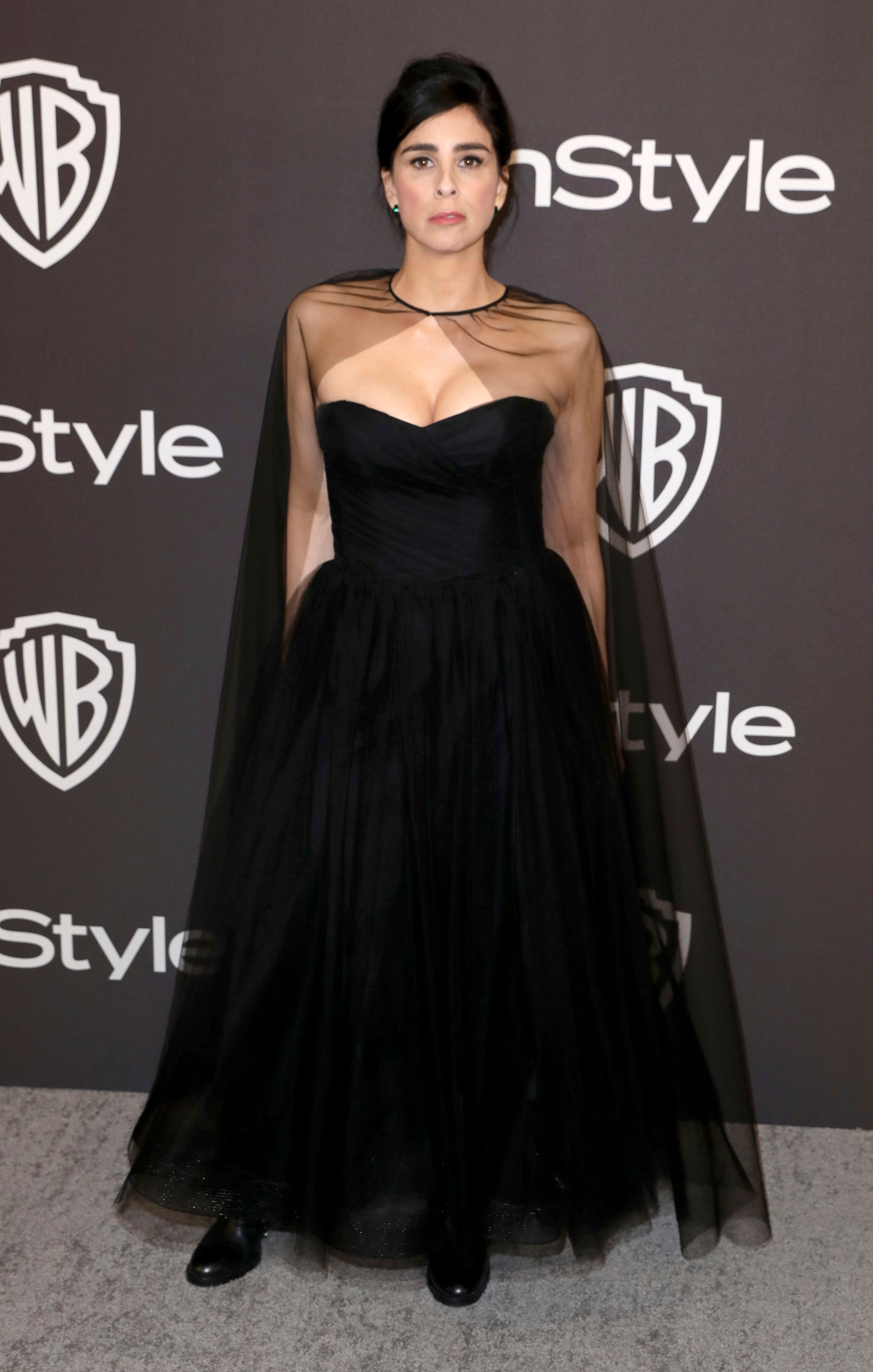 Sarah Silverman arrives at the InStyle and Warner Bros. Golden Globes afterparty at the Beverly Hilton Hotel on Sunday, Jan. 6, 2019, in Beverly Hills, Calif. (Photo by Matt Sayles/Invision/AP)