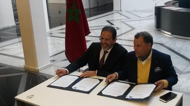Le directeur général de l'ONDA, Zouhair Mohammed El Aoufir, et le président...