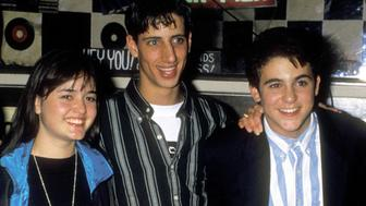 Actors Danica McKellar, Josh Saviano, and Fred Savage attend The 100th Episode Celebration of 'The Wonder Years' on November 11, 1992 at Ed DeBevic's in Beverly Hills, California.