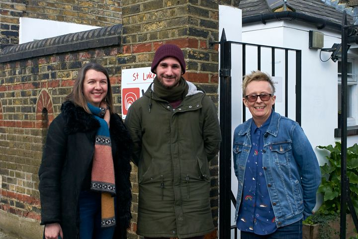 Left to right: Jude McKee (Director of Operations at WLM), Mattia (a Rising Star) and Nicki Fisher (Head of the Pret Foundation)