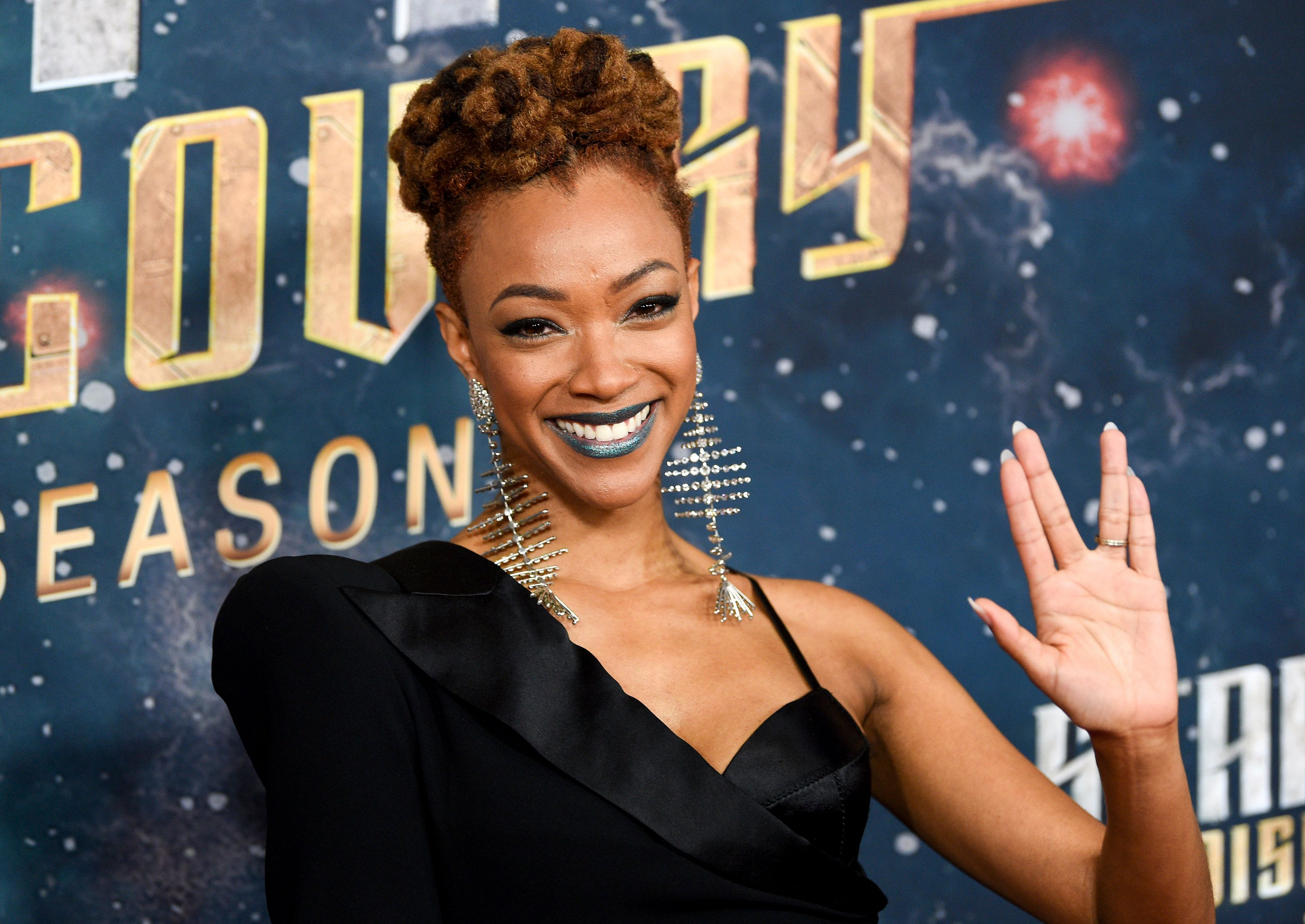 "Actor Sonequa Martin-Green attends the ""Star Trek: Discovery"" season two premiere at the Conrad New York on Thursday, Jan. 17, 2019, in New York. (Photo by Evan Agostini/Invision/AP)"